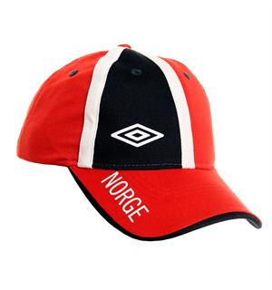 UMBRO Support Cap rød SR - Supporter-caps i bomull