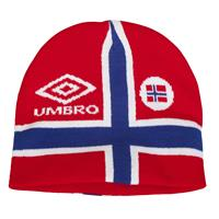 UMBRO Norway beanie  Rød SR Lue  for supporteren