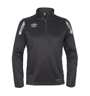 UMBRO Core Sweat Half Zip J Sort 164 Treningsgenser i teknisk kvalitet
