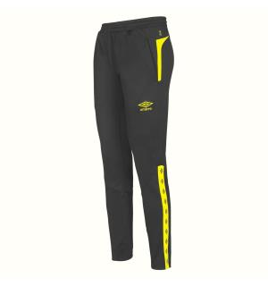 UMBRO UX Elite Pant Reg j Sort/Gul 164 Treningsbukse i normal passform