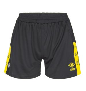 UMBRO UX Elite Shorts W Sort/Gul 34