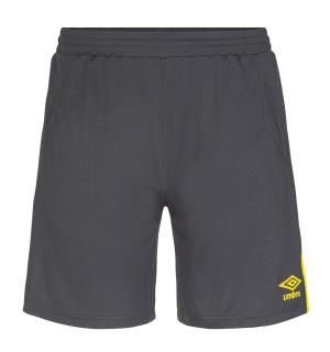 UMBRO UX Elite Shorts jr Sort/Gul 128 Flott spillershorts
