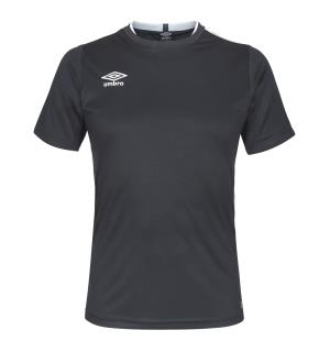 UMBRO UX Elite Trn Tee jr Sort/Hvit 140 Teknisk trenings t-skjorte til junior